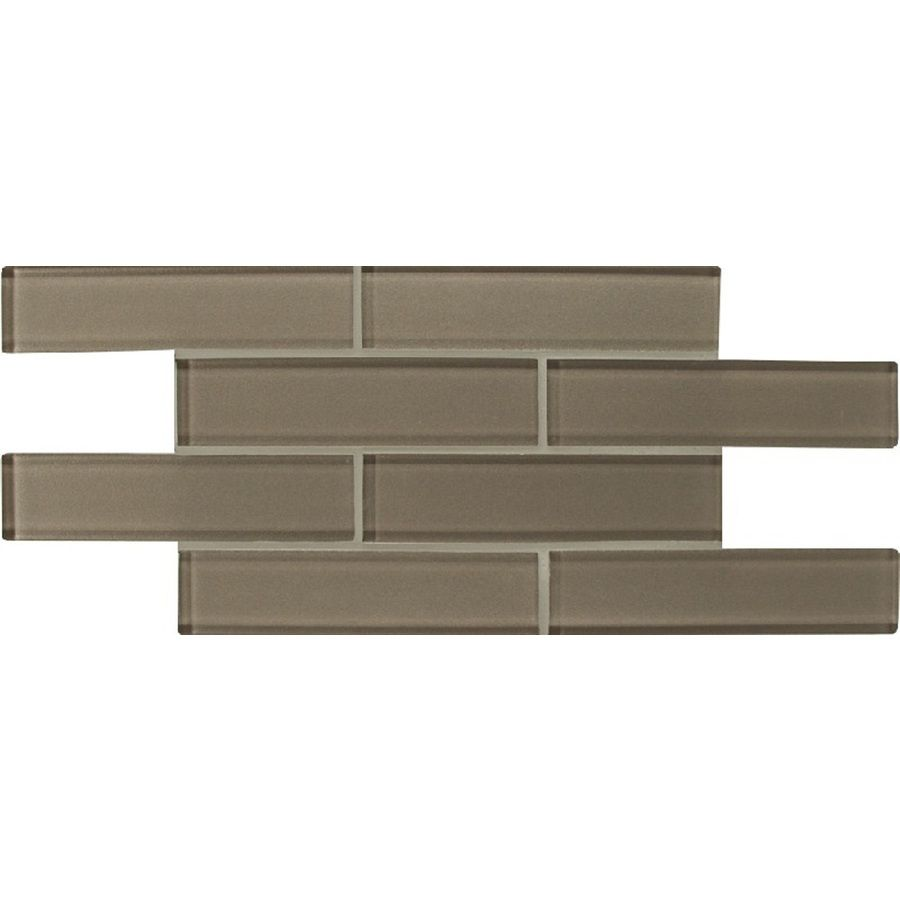 Shop Bedrosians Manhattan Silk Glass Mosaic Subway Wall Tile (Common ...