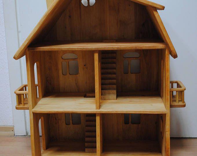 Wood Dollhouse Wooden Dollhouse Dollhouse Fairy Dollhouse Etsy