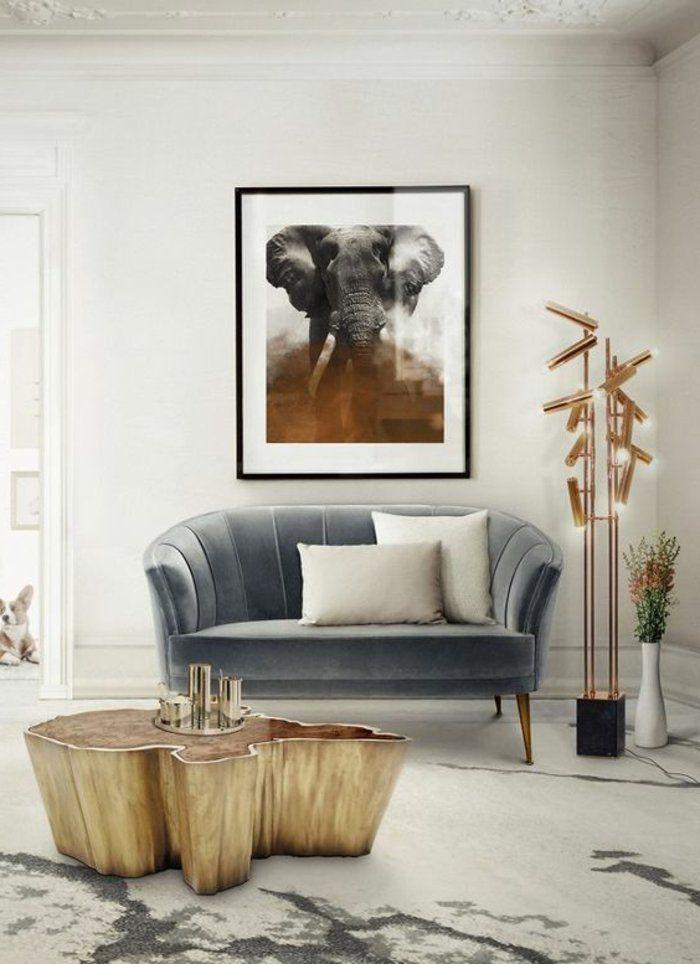 Graues Zimmer graues zimmer mit einem grauen sofa viele len und tisch aus