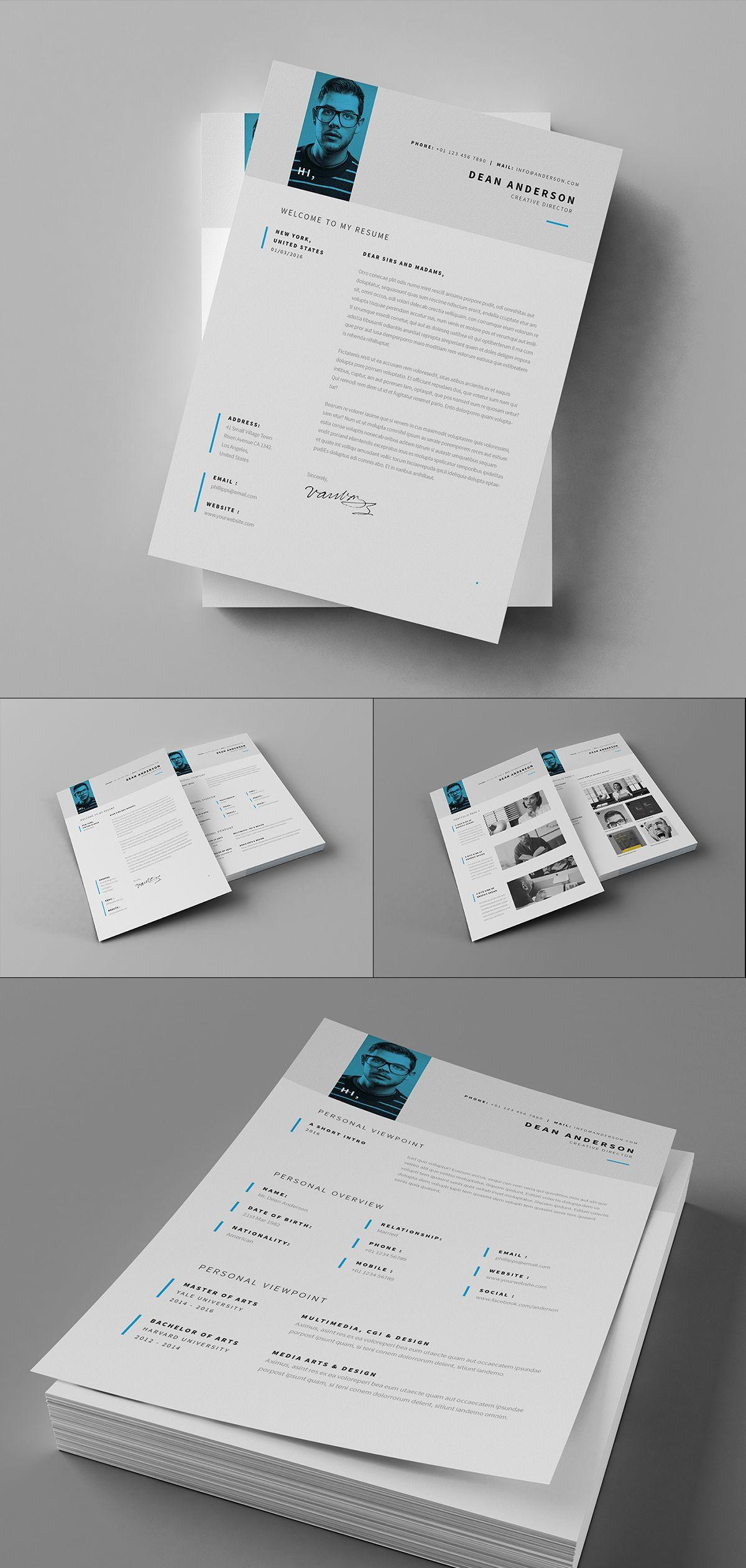 Minimal Resume Cv Curriculum Vitae 7 Pages Copy On Behance Curriculo Design Design Ideias