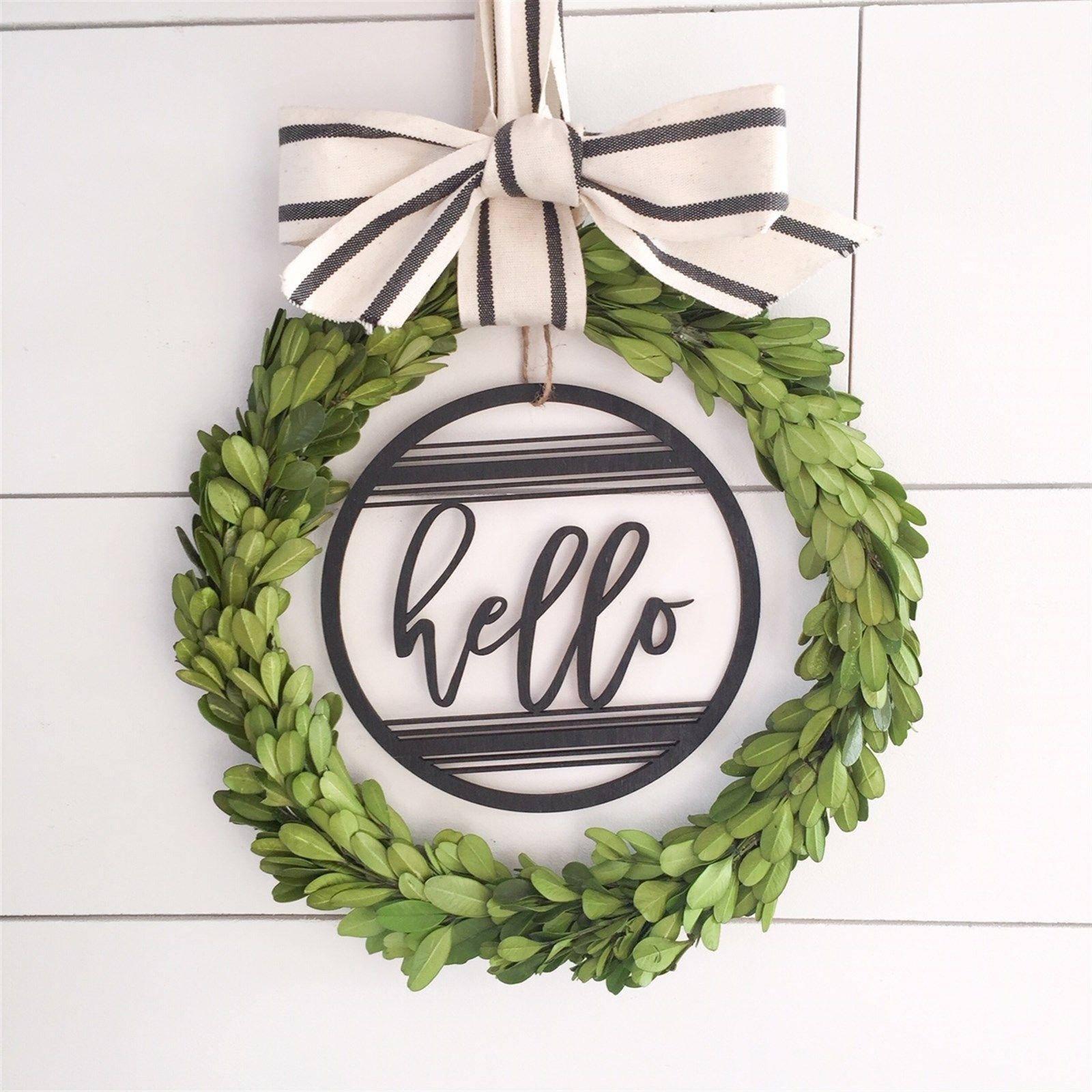 Farmhouse wreath signs indoor wreath monogram wood sign