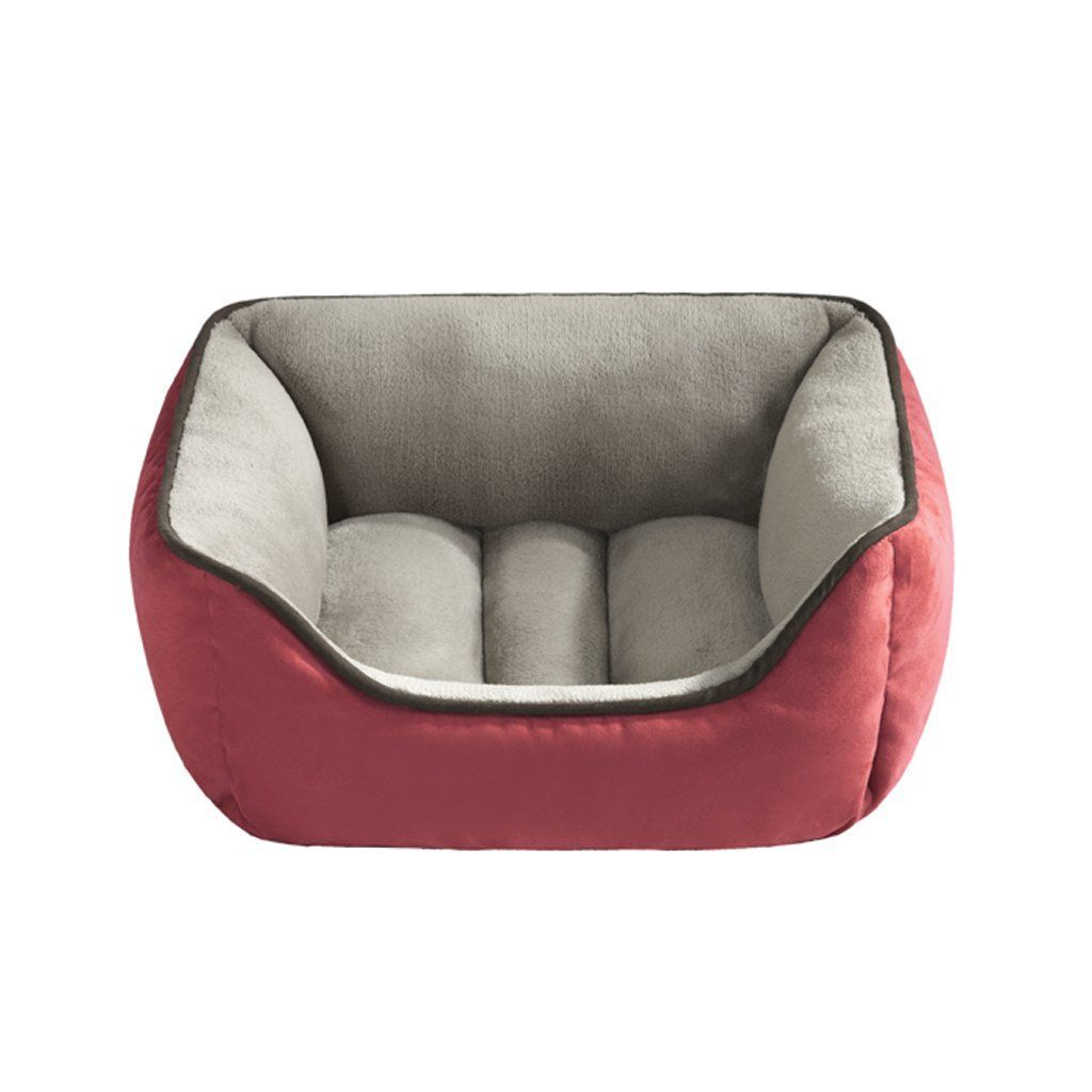 halo reversible rectangular cuddler 24 by 34 inch red taupe