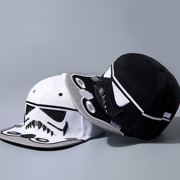 0994791d9 Star Wars Stormtrooper Snapback Cap Hat Big Face Costume White ...