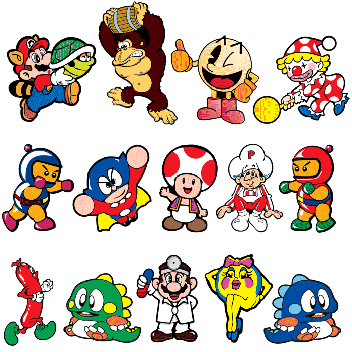 Mini Game Character Stickers Game Character Classic Video Games Video Game Characters