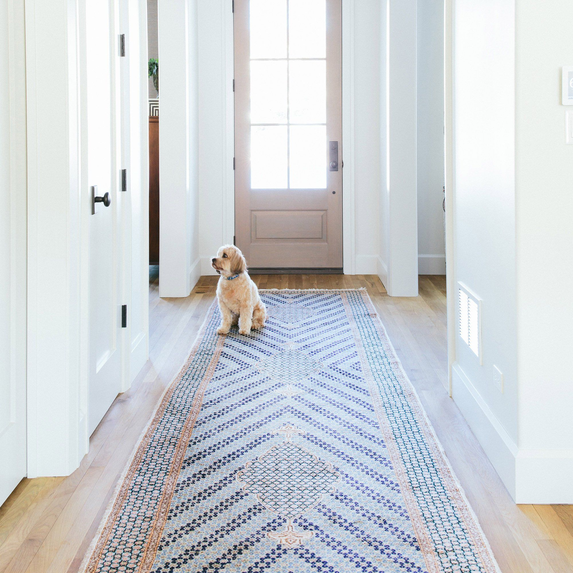 Non Slip Rug Pad Rubber Non Skid Gripper For Runners On Hard Surfaces And Wood Floors 2 X 8 Trim To F Runner Rug Entryway Rug Runner Hallway Hall Runner Rugs