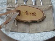 Namensschild Tischkarte Hochzeit Gastgeschenk jrw