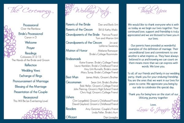 Wedding Program Trifold Wedding Ideas In 2018 Pinterest