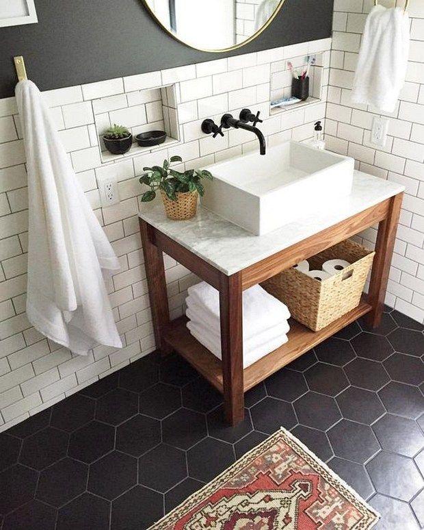 75 Bathroom Tiles Ideas For Small Bathrooms 23 Bathroom Remodel Master Small Master Bathroom Farmhouse Bathroom Decor