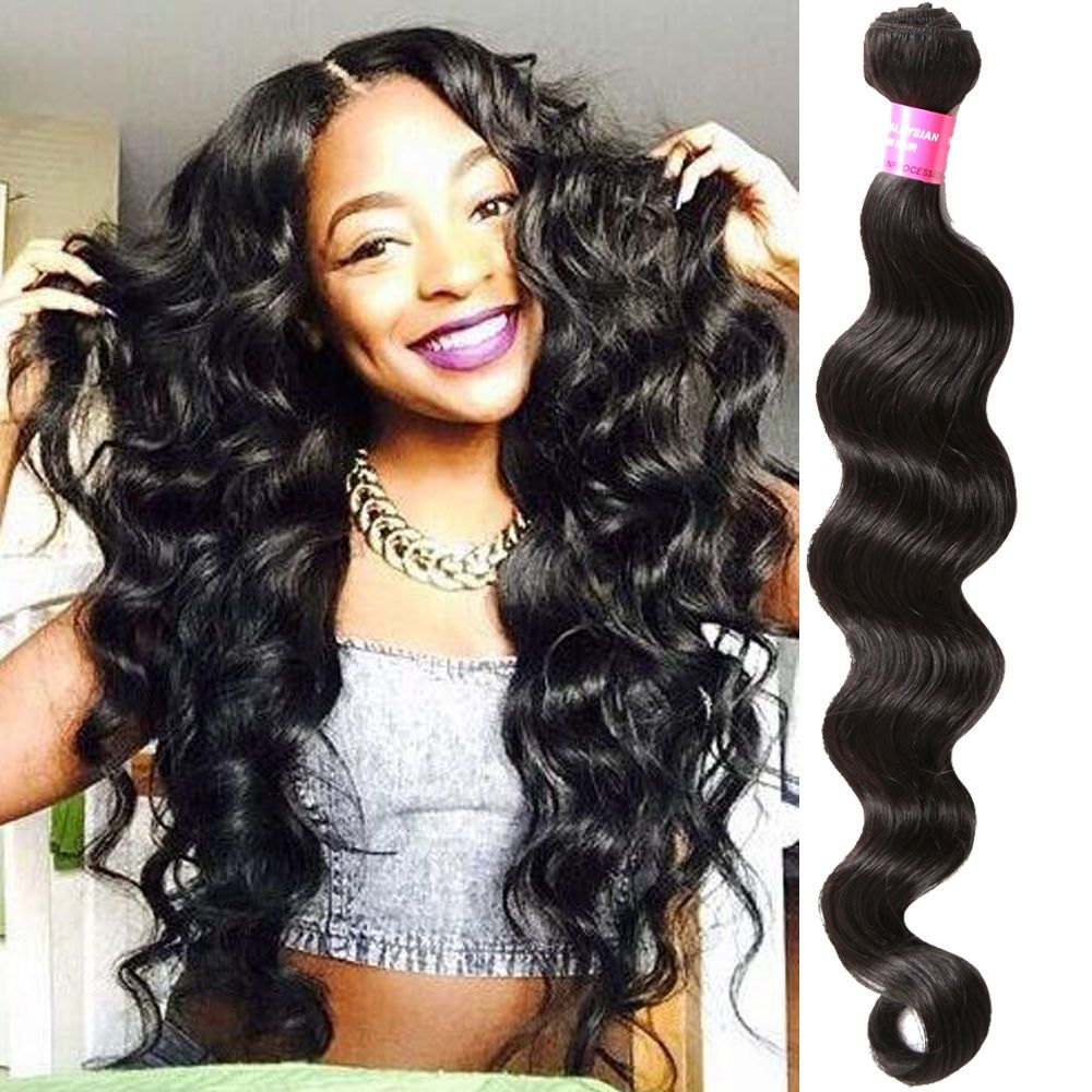Natural Black Deep Weave Human Hair Extensio 100g/Bundle High Quality Hair Weave #WIGISS #HairExtension