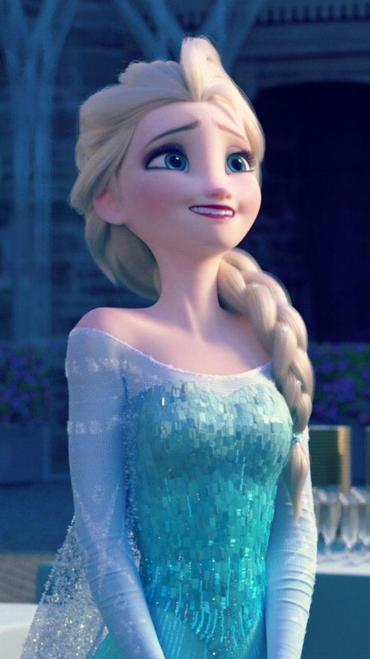 Frozen Fever Elsa Phone Wallpaper (With images) Disney
