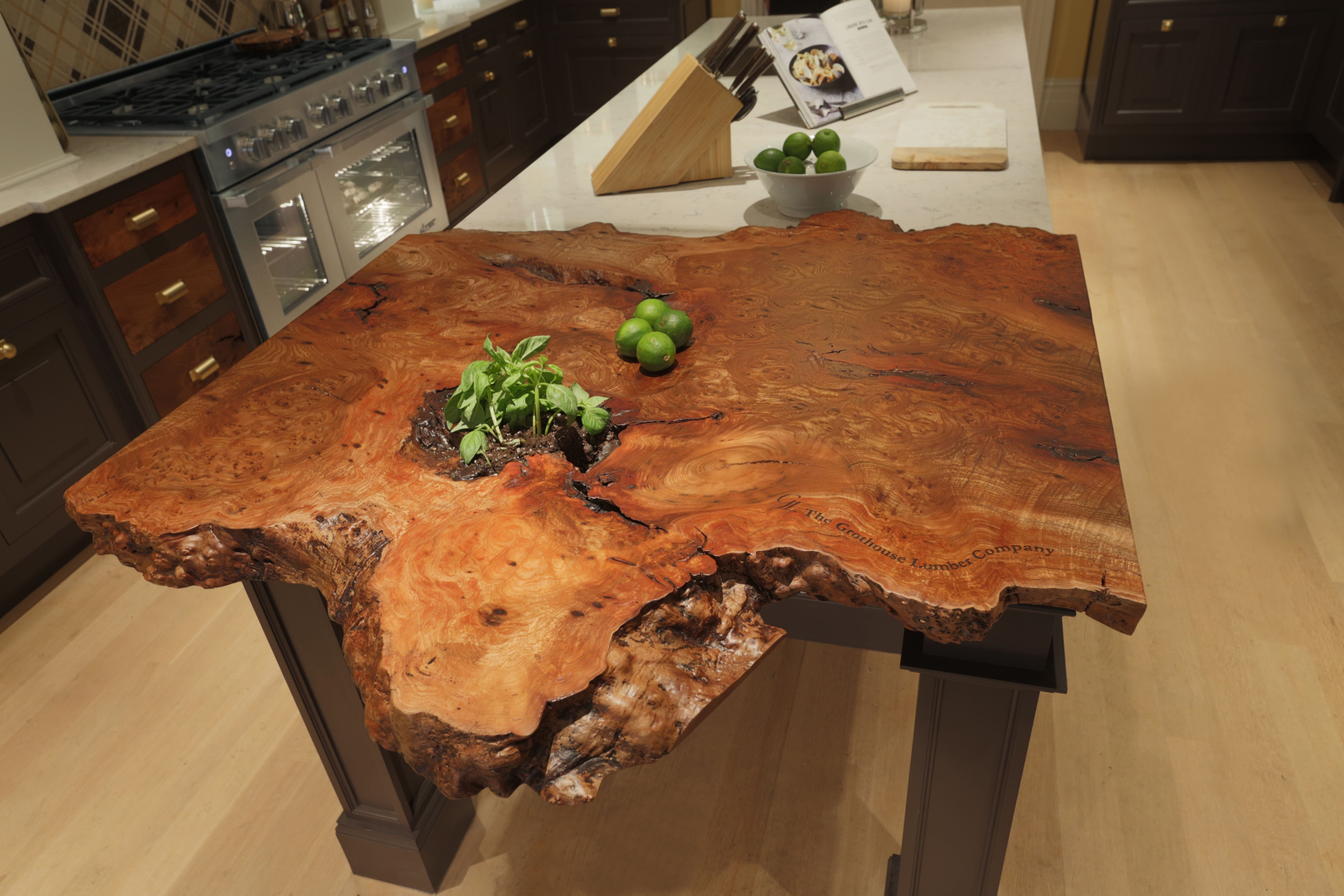 Live Edge Countertop in the 2015 Kips Bay Decorator Show House ...