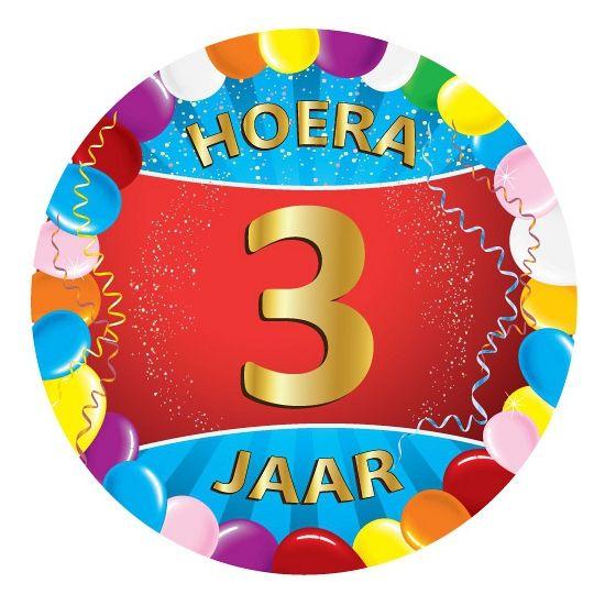 verjaardagsfeestje 3 jaar