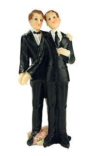 figurine maris pacs ou mariage gay et homo avant douvrir le bal et - Figurine Mariage Gay