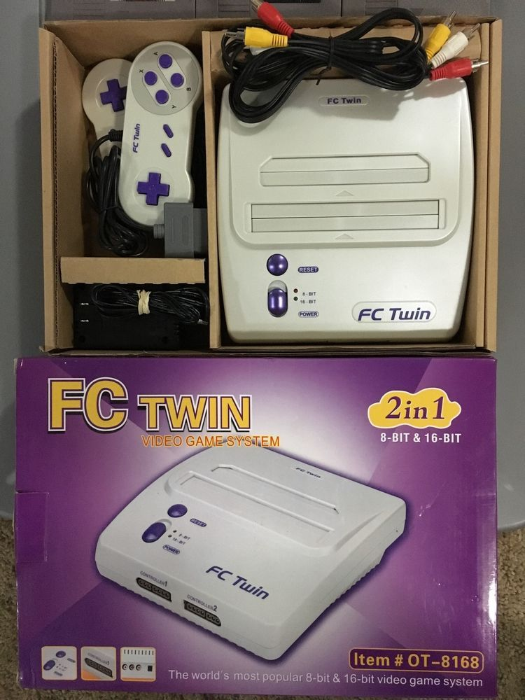 yobo fc twin nes/#SNES 2 in 1 (8 bit and 16 bit) console