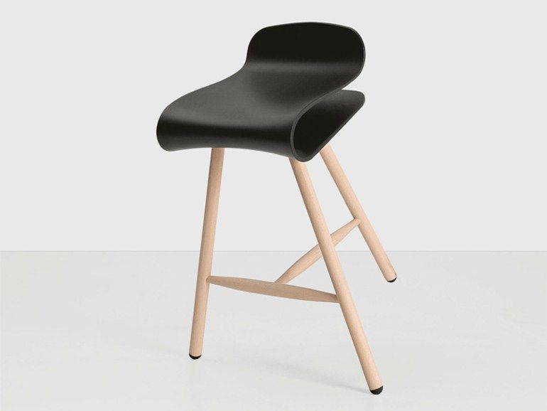 Sgabello in legno bcn wood bar restaurant stool furniture