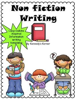 non fiction writing templates lucy calkins inspired ideas for