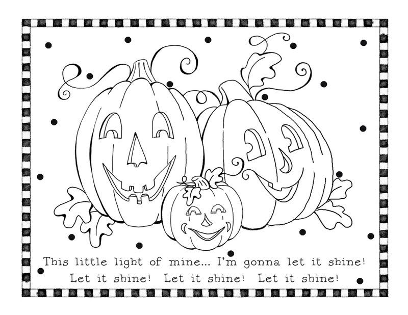 Halloween This Little Light Of Mine I M Gonna Let It Shine Free Halloween Coloring Pages Pumpkin Coloring Pages Halloween Coloring Sheets