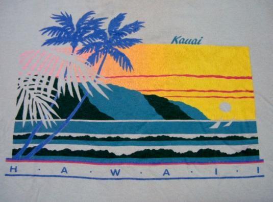 8e3e0656f Vintage 1980's Kauai Island Hawaii Beach T-Shirt | beach | Beach t ...