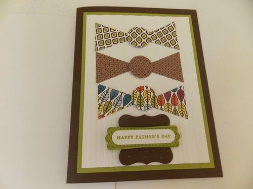 Stampin Up Handmade Bow Tie Fathers Day Card | eBay