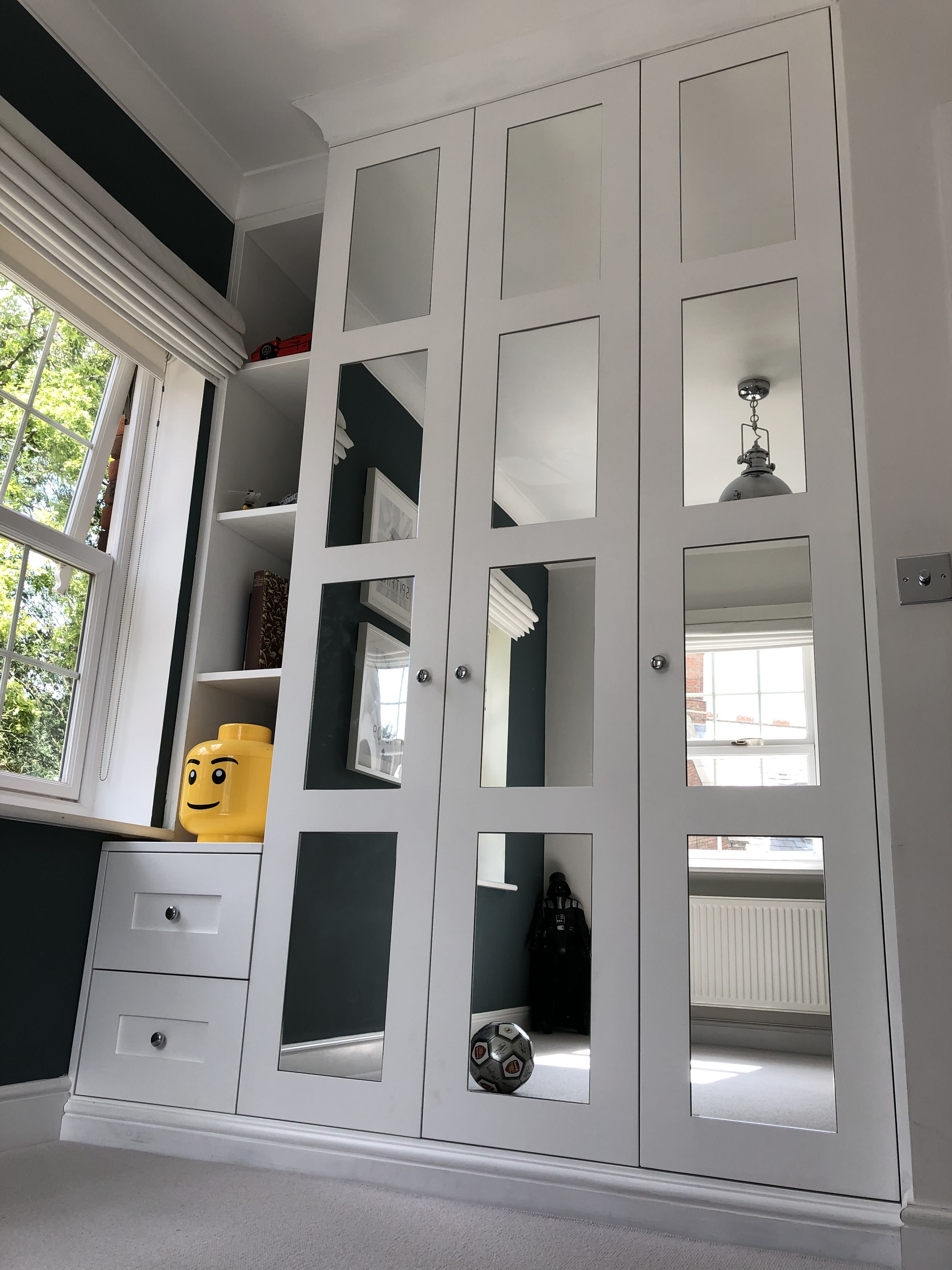 Bespoke wardrobe Fitted bedroom wardrobe White