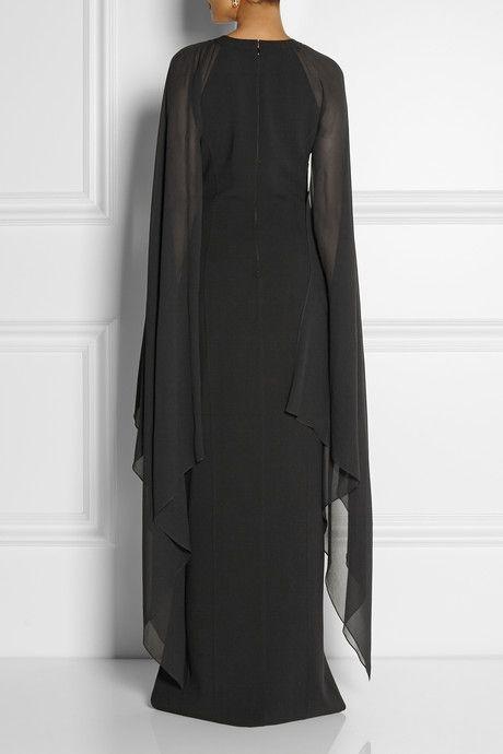 9e0e41eb6e Michael Kors Stretch-wool and silk-georgette gown