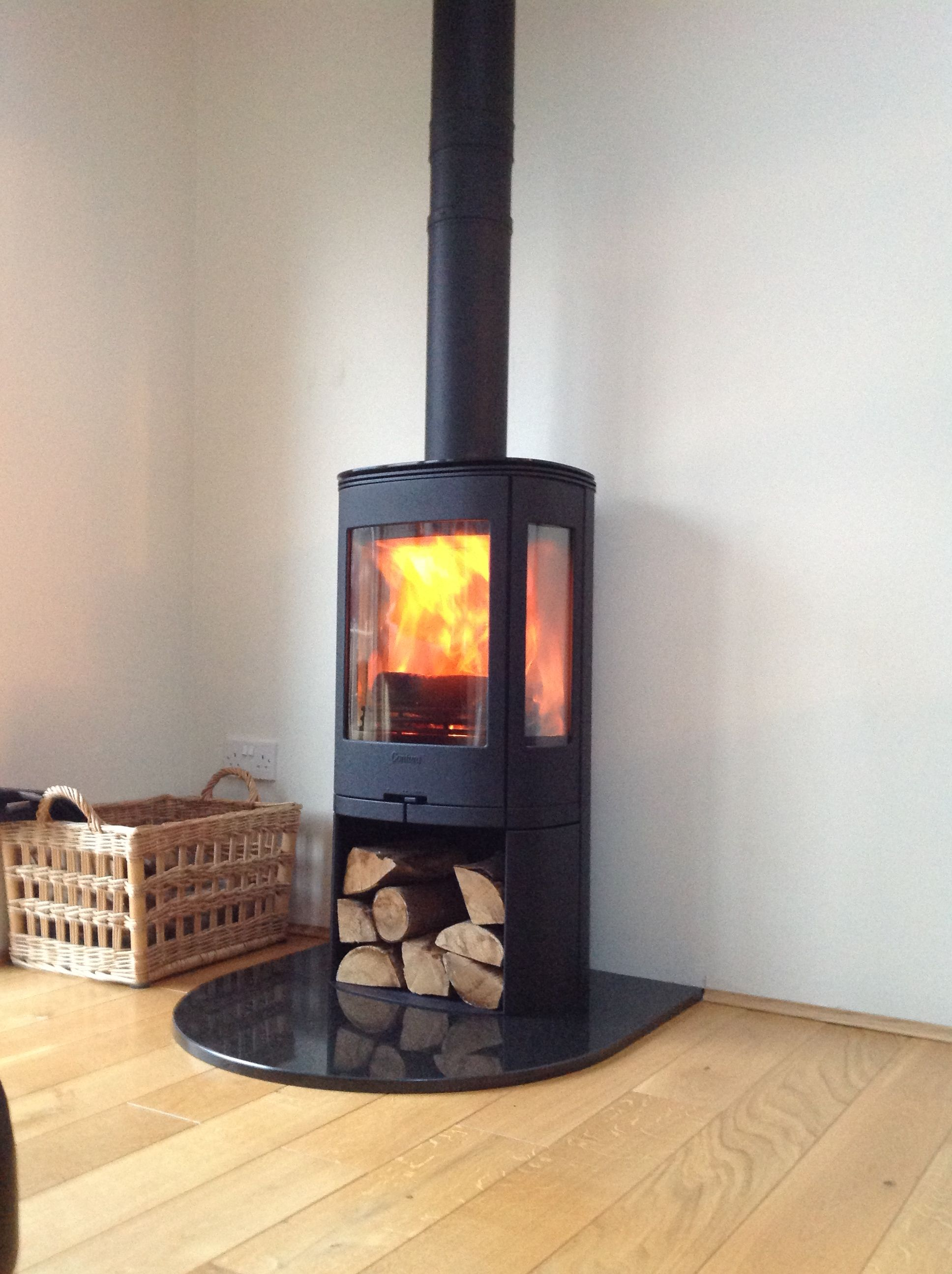 Free Standing Contura Wood Burning Stove Supplied By Topstak Www