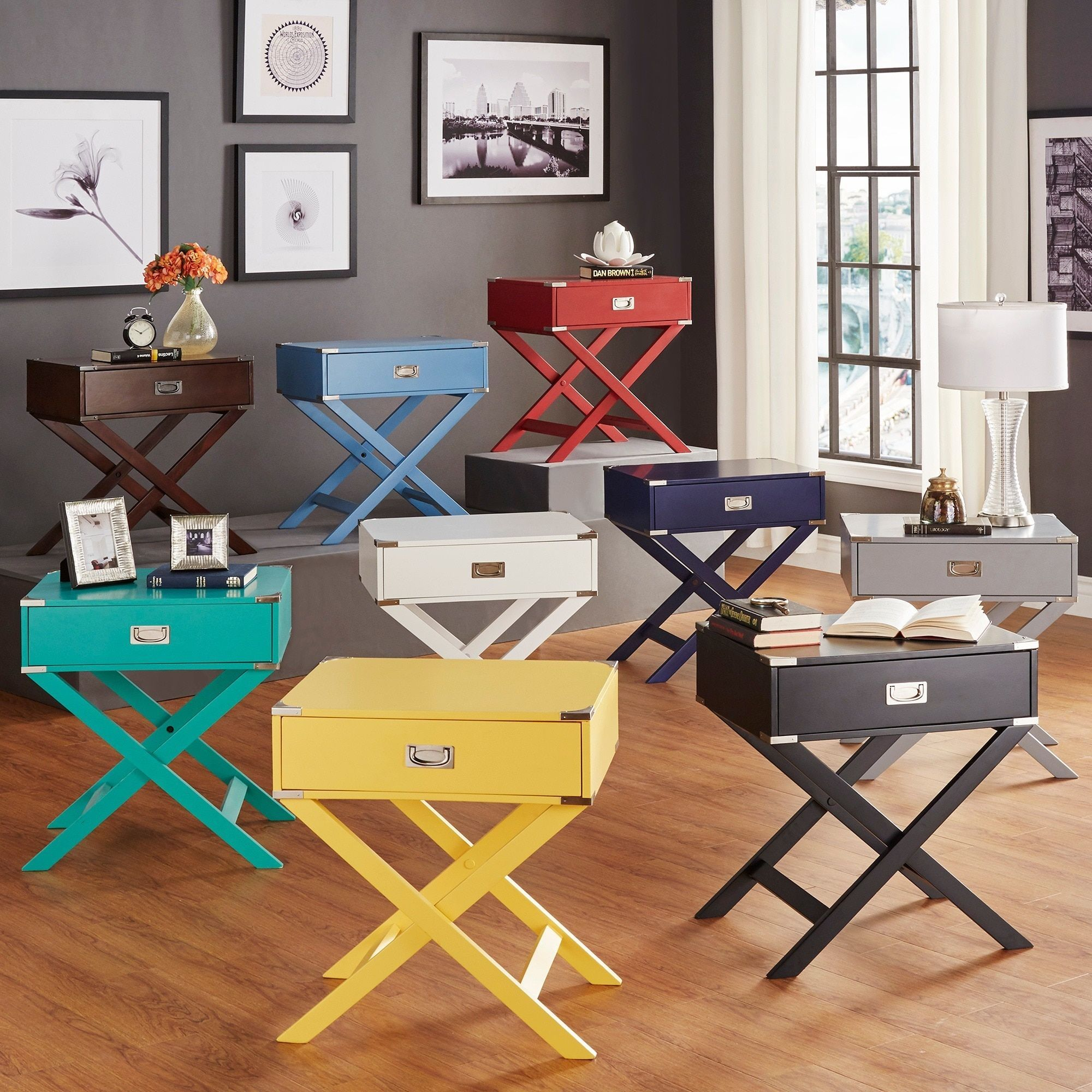 INSPIRE Q Kenton x Base Wood Accent Campaign Table | Overstock.com Shopping  - The