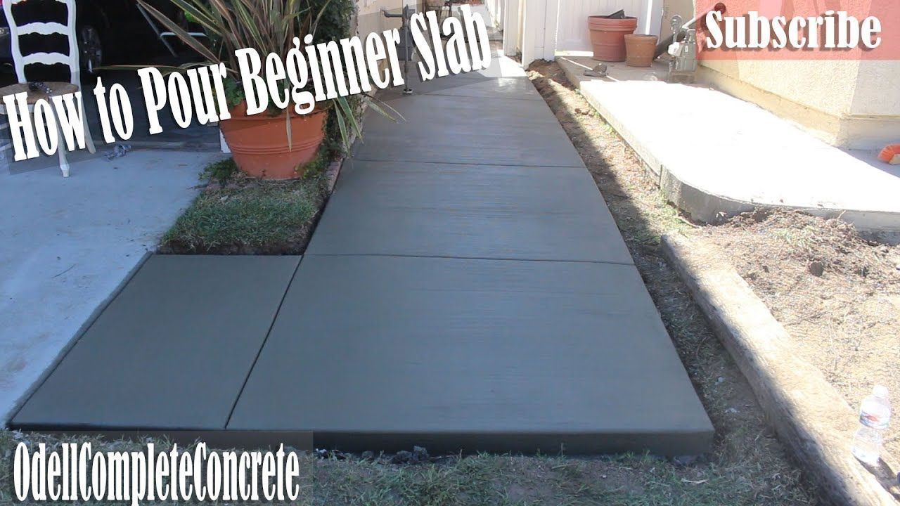 how to build a concrete patio slab