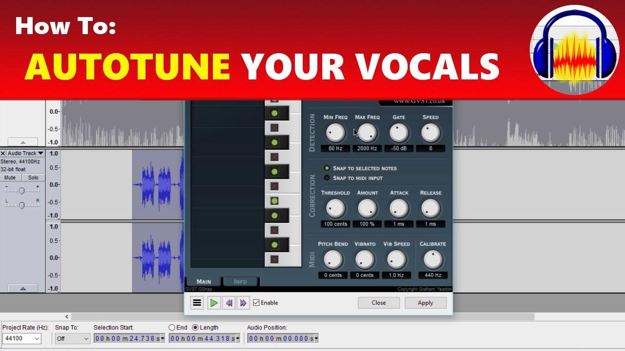 How To: Autotune Your Voice & Vocals in Audacity   Audacity