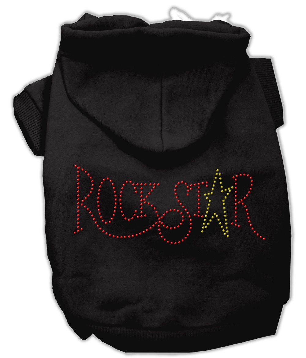 Basic Dog Hoodie (Rhinestone) - Rockstar