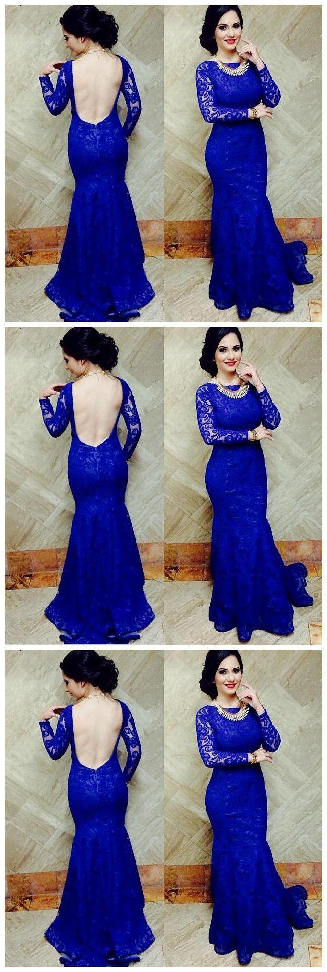 Long sleeve prom dresslace prom dressesevening dress evening