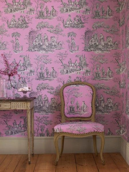 I am finding myself embracing wallpaper...expensive wallpaper that is
