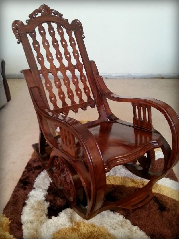 Pakistan Free Classified Ads Chinioti Rocking Chair Excellent Condition Rawalpindi Rocking Chair Chair Home Furniture