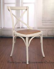 cross back dining chairs white tall arm chair ex display french provincial birch antique