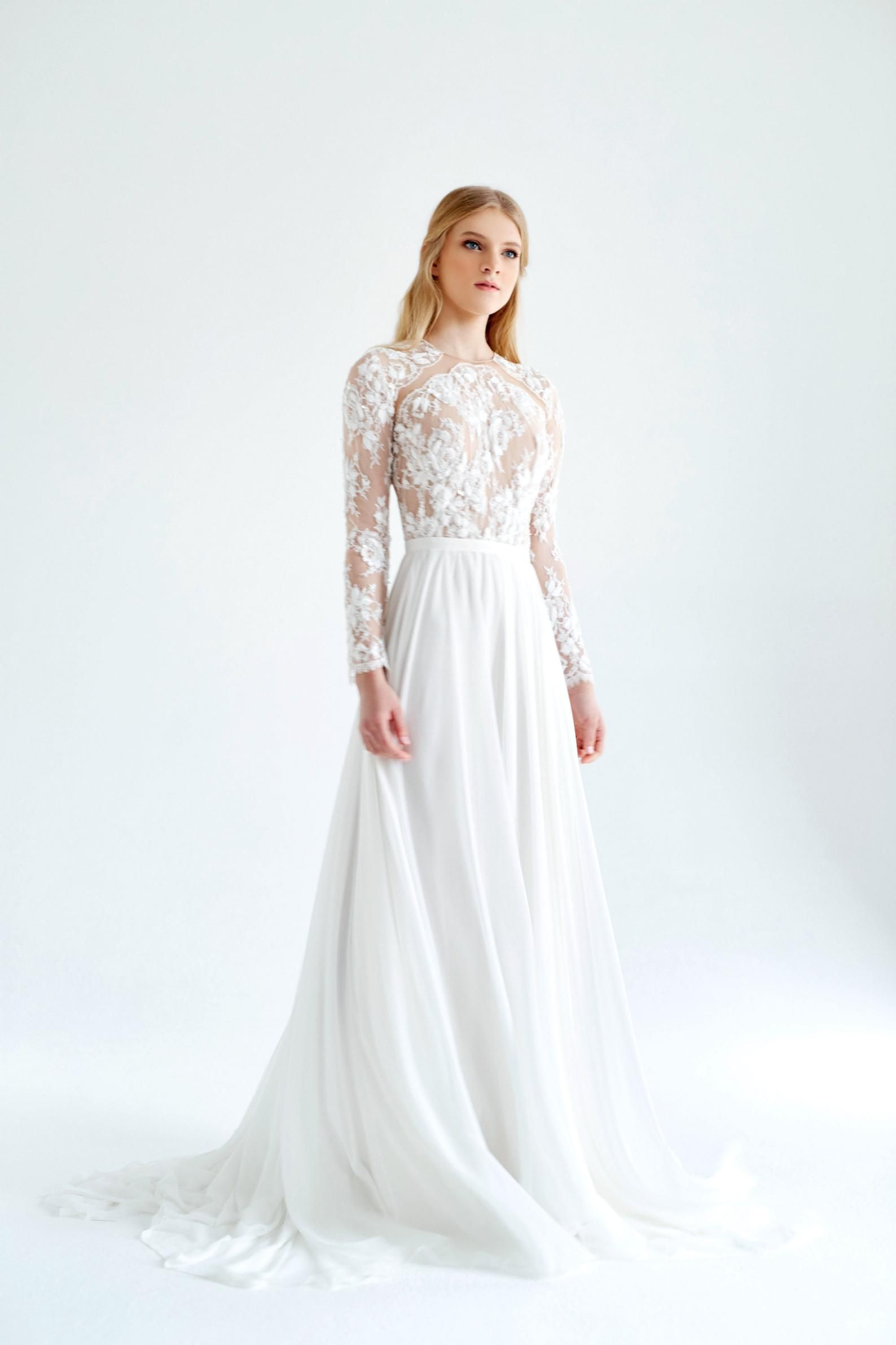 Lace And Silk Wedding Dress January Silk Wedding Dress Ivory