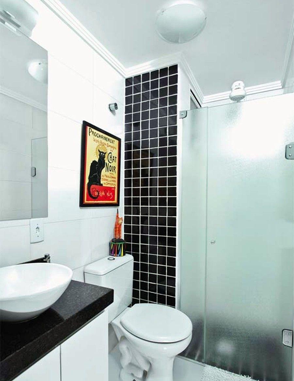 7 apartamentos pequenos decorados e otimizados asi for Banos modernos para apartamentos