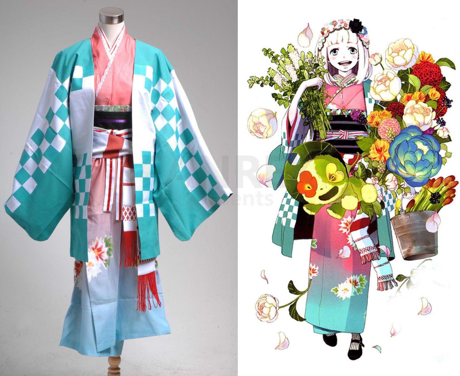 Ao no Blue Exorcist Shiemi Moriyama Kimono Cosplay Costume Anime Halloween Show