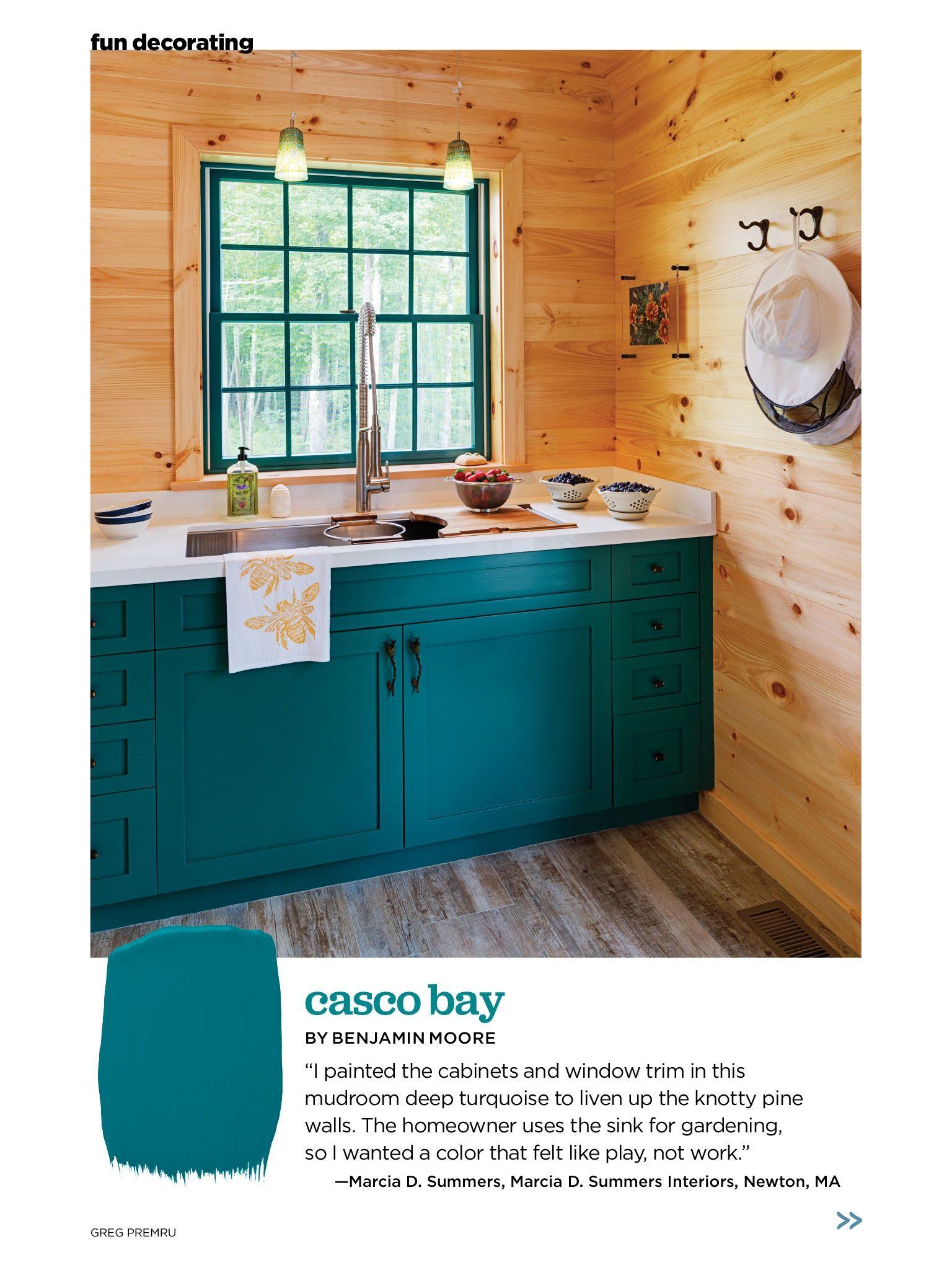 Benjamin Moore Casco Bay - bathroom cabinet?   Colors! Patterns ...