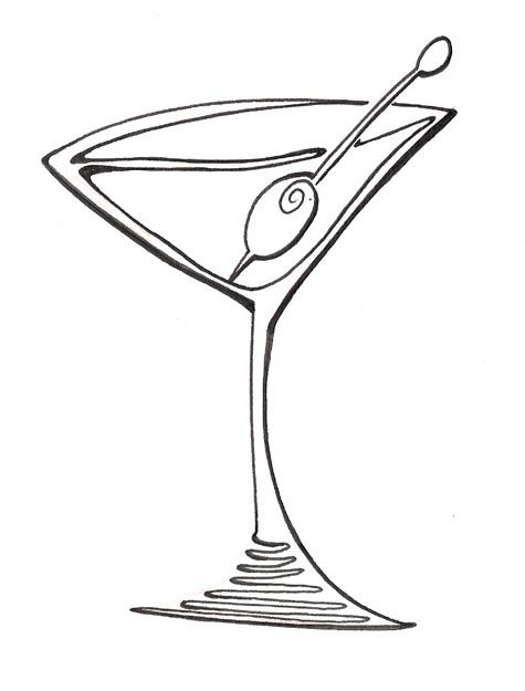 cartoon martini glass clipart blog line art ideas pinterest rh pinterest com