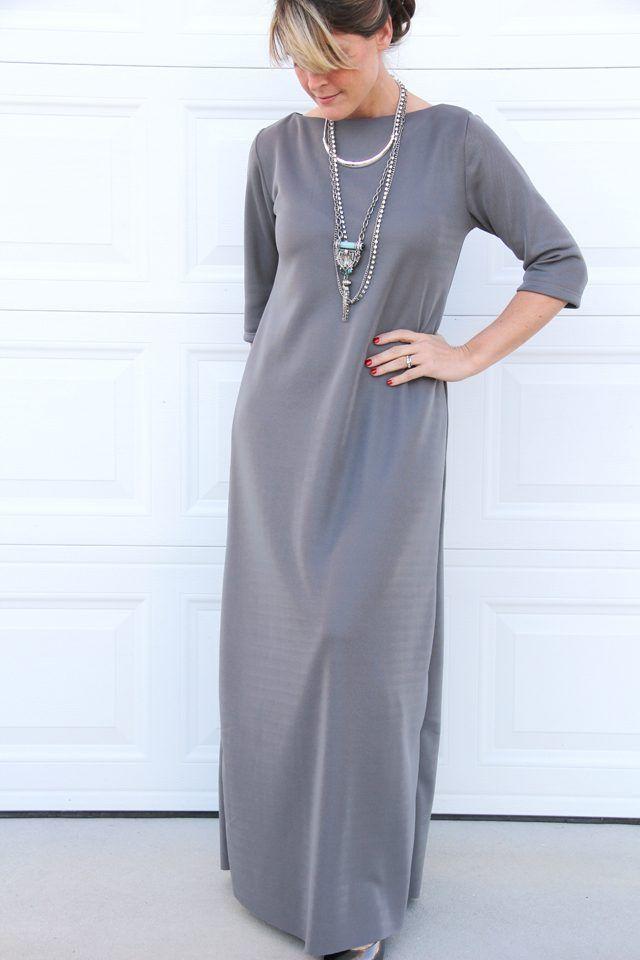 Basic Maxi Jurk.How To Sew Your Own Maxi Dress Naaitechnieken Couture Facile