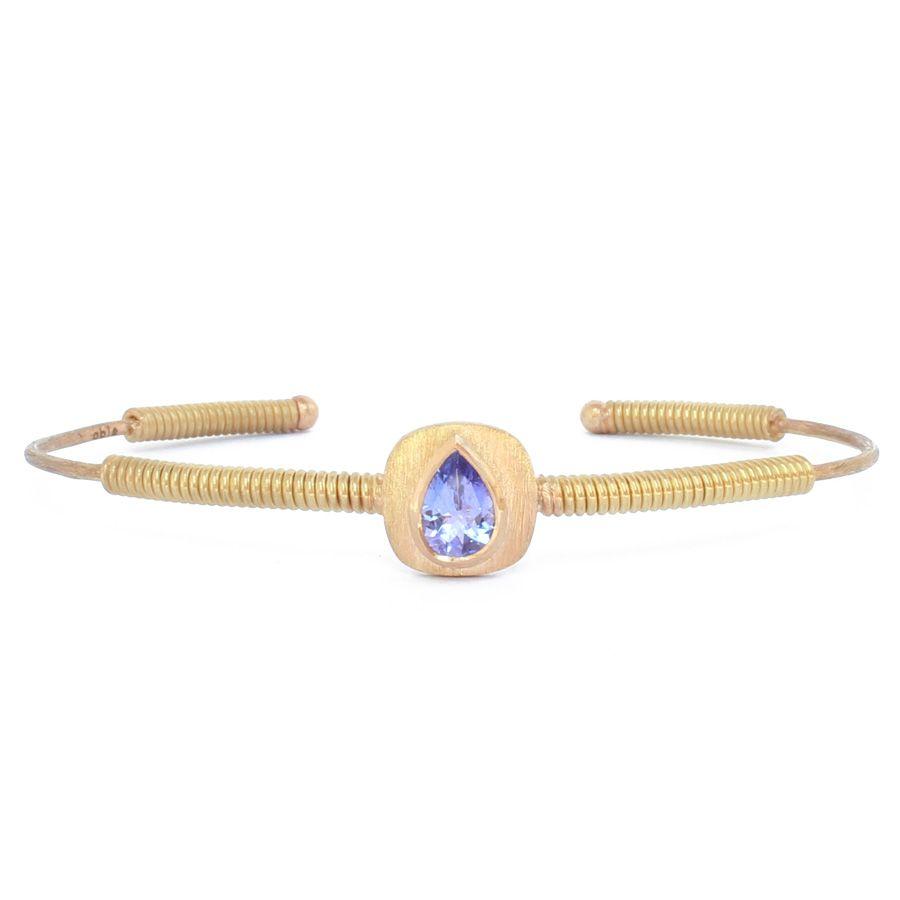 Gold threads and tanzanite bracelet abïs shop them on les