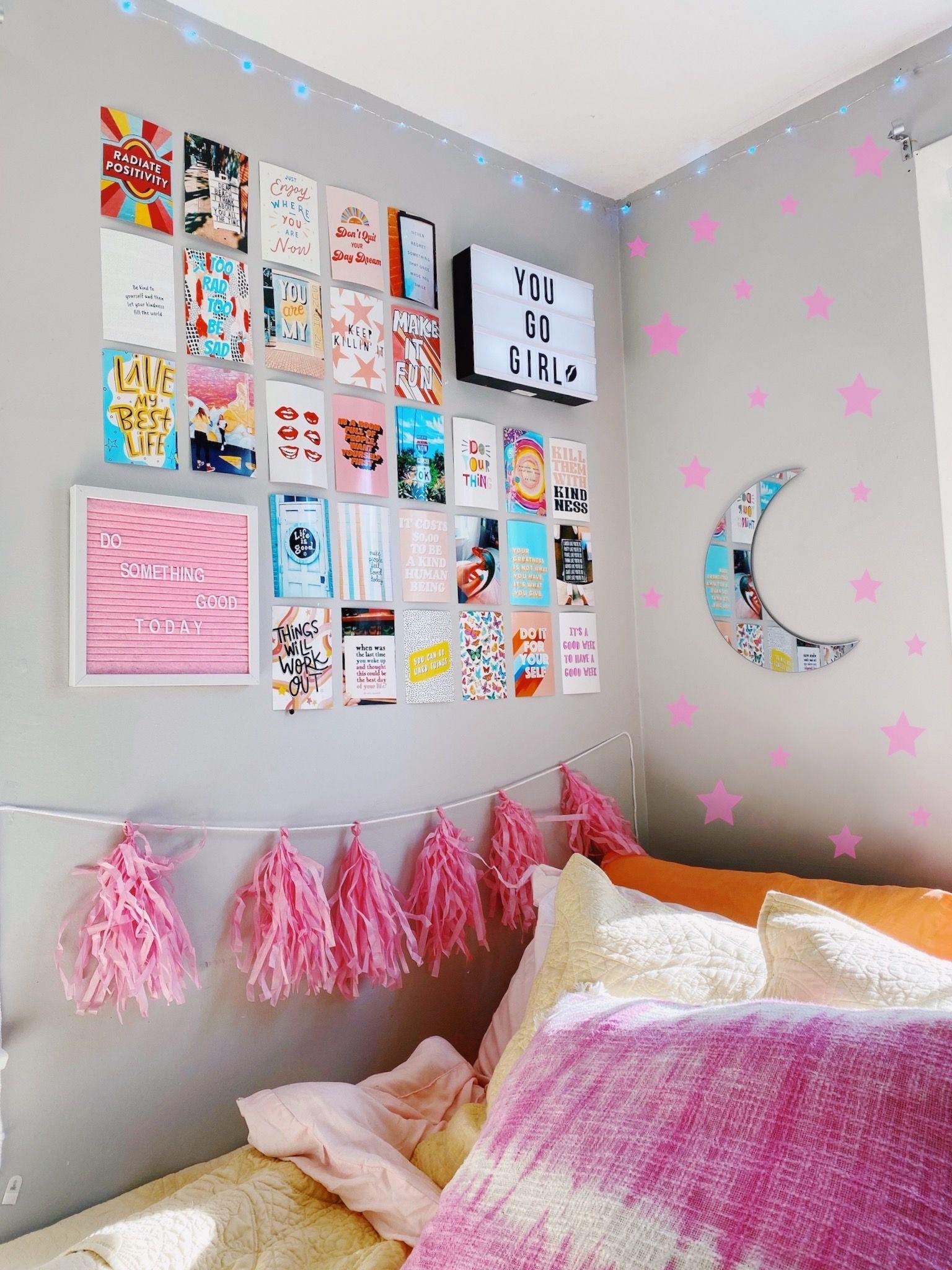 caitysprints on etsy!! { #bedroom #vsco #roomgoals #dorm #dormroom #wallart #walldecor #etsyshop #summer #positivevibes }