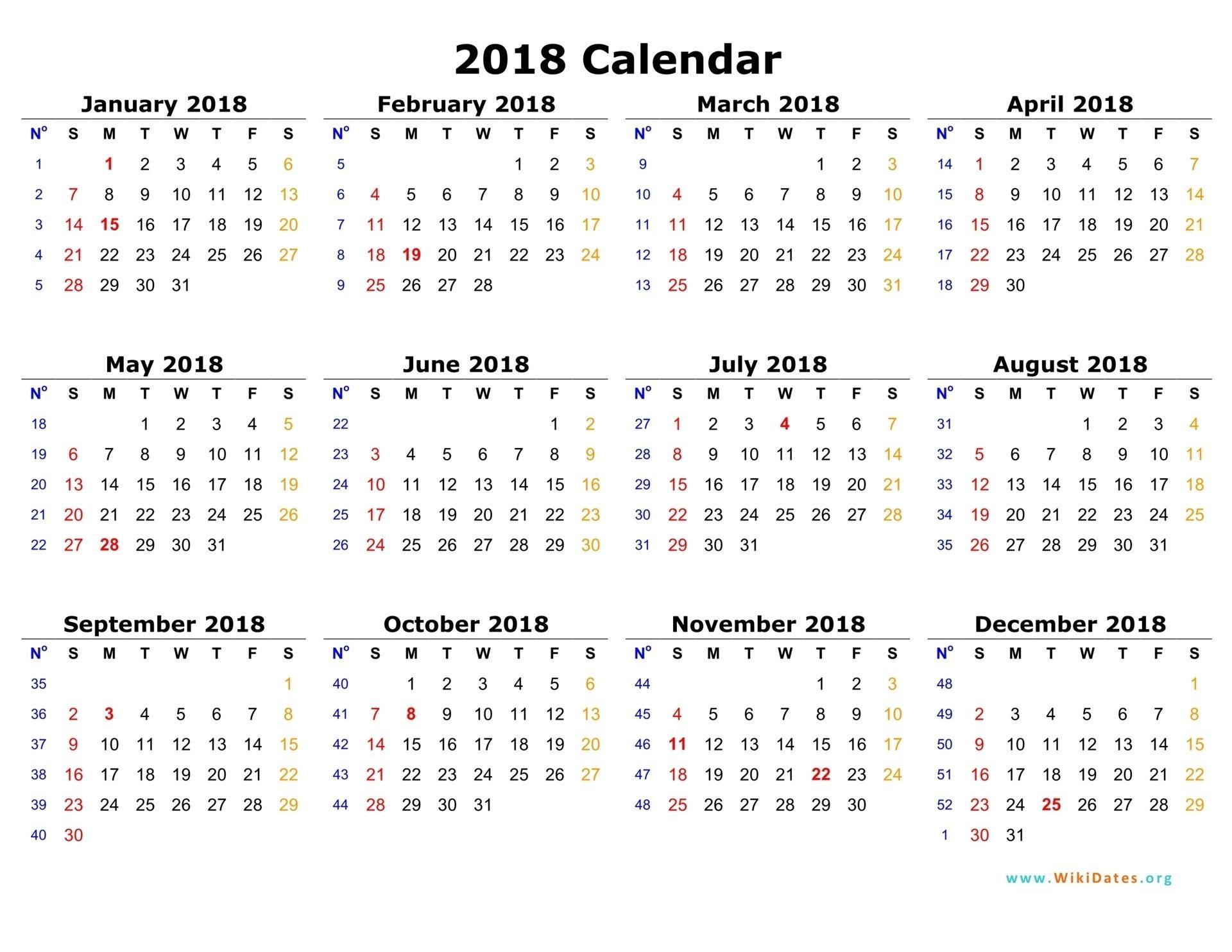 Calendar Year Week 44 Di 2020