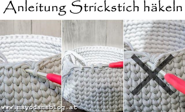 Photo of DIY Häkelkörbchen im Strickstich mit Anleitung #diy #häkeln #crochet #handarb…