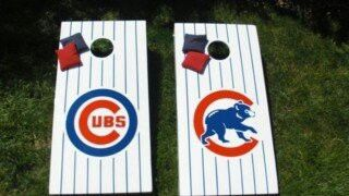 LOUIS BLUES CORNHOLE BEAN BAGS SET OF 8 ALL WEATHER RESIN FILLED CORN HOLE ST