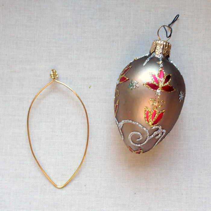 DIY Wire and Bead Christmas Ornaments | Beaded christmas ornaments ...