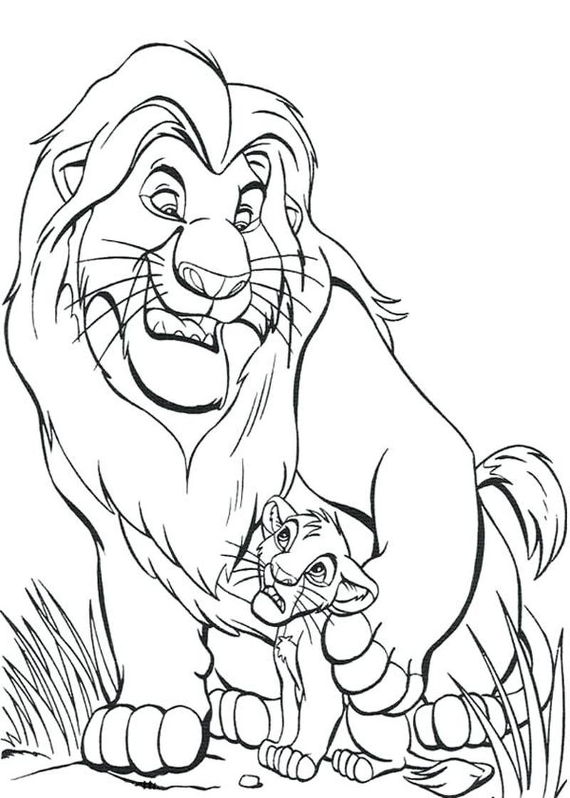 Cool Lion King Coloring Pages Ideas Lion Coloring Pages