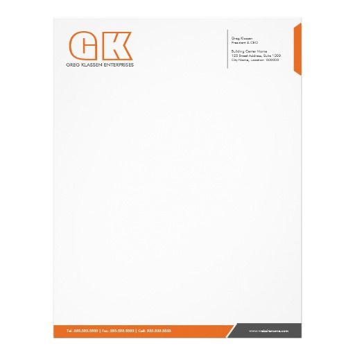 Professional Grey And Orange Letterhead Template Templates