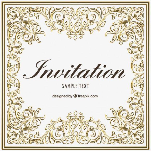 Httpfreepikfree vectorormanetal invitation wedding invitation vectors photos and psd files stopboris Images