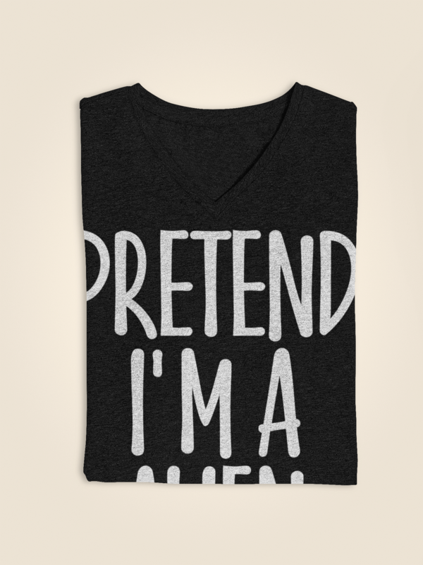 Pretend I'm Alien T-Shirt Halloween Gift #mamp;mcostumediy
